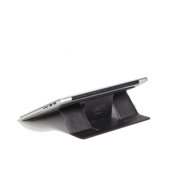 Siyah Deri Laptop Standı